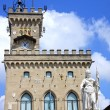 Palazzo Pubblico and Statue of Liberty in San Marino, Italy — Stock Photo #38543475