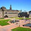 Zwinger - palace in Dresden, Germany — Stock Photo #38543619