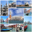 Collage of landmarks of Venice, Italy — Stock Photo #38544349