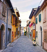 Old street in Rimini, Italy — Stock fotografie