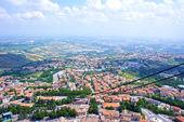 Funicular road against the panorama of San Marino, Europe — Stock Photo