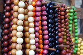 Various of different colorful necklace at flea market — Foto Stock