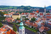 Panorama of Cesky Krumlov.Czech republic. UNESCO World Heritage Site — Stock Photo