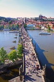 View of Charles Bridge, Prague, Czech Republic — Stock Photo