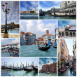 Collage of landmarks of Venice, Italy — Stock Photo #38628183