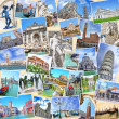 Stack of travel images from Italy (my photos). Famous landmarks — Stock Photo