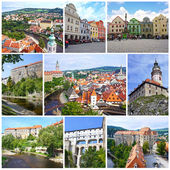 Photo collage travel in Cesky Krumlov, Czech Republic, UNESCO Wo — Stock Photo