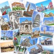 Stack of travel images from Italy (my photos). Famous landmarks of Italian cities - Venice, Rome, Florence, Siena, Pisa, Tivoli — Stock Photo #38868723