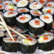 Traditional fresh japanese sushi rolls — Stock Photo #39100505