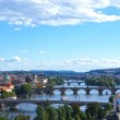 View on Prague Bridges, Czech Republic — Stock Photo