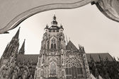 St. Vitus gothic cathedral in Prague, Czech Republic. — Stock Photo