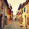 Old street in Rimini, Italy — Stock Photo #39263449