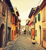 Old street in Rimini, Italy — Stock Photo