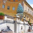 Pine Cone Fountain (Fontana della Pigna) in Vatican Museum, Rome — Stock Photo