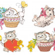 Cartoon cute cat — Vettoriale Stock