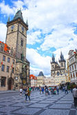 Astronomical Clock at morning in old town Prague, Czech Republic — Stock Photo