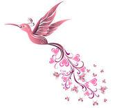 Tattoo Hummingbird. Vector — Stockvektor