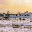 Panorama of the historic town of Russia - Suzdal. Church and monastery in Suzdal in winter — Stock Photo #40045563