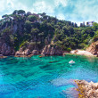 Summer beach. Nature and travel background. Spain, Costa Brava — Stock Photo