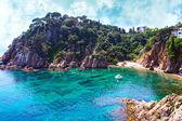 Summer beach. Nature and travel background. Spain, Costa Brava — Stock Photo
