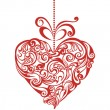 Valentines day card with elegant floral heart  — Stock Vector #41251211