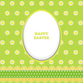 Happy Easter card with paper eggs on green background — Vector de stock