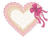 Valentýna lacy srdce izolovaných na bílém pozadí. vektor — Stock vektor