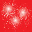 Starry festive fireworks background — Stock Vector