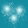 Starry festive fireworks background. — Stock Vector