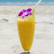Refreshing cocktail on tropical beach — Stock Photo #45933773
