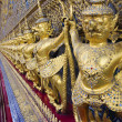 Golden garuda statues at Wat Phra Kaew Temple in Grand Palace of the Emerald Buddha in Bangkok, Thailand. — Stock Photo #46518665
