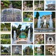 Collage image of Villa d'Este in Tivoli, near Rome, Italy — Stock Photo #48817585