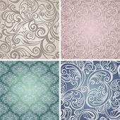 συλλογή απρόσκοπτη floral μοτίβο. τρύγος — Διανυσματικό Αρχείο