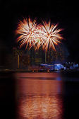 Fuochi d'artificio di singapore — Foto Stock