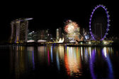 Singapore Fireworks — Stock Photo