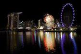Singapur fajerwerki — Zdjęcie stockowe