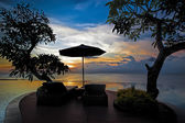 Balinese sunset — Stock Photo