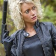 Sexy Womwith silencer gun — Stock Photo #14034145