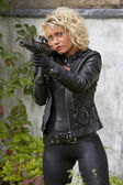 Sexy female agent — Stock Photo