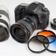 Photo camera equipment — Foto de Stock