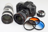 Photo camera equipment — Stock Photo