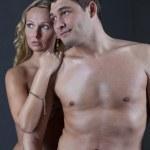 Portrait of Naked Couple embracing — Stock Photo