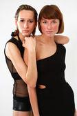 Två kvinnor porträtt — Stockfoto