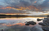 明確な水の夕日 — ストック写真