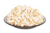 Popcorn on a plate — Stock Photo