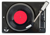 Old turntable with vinyl record — Stock Photo