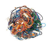 Tangle of wires — Stock Photo