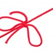 Knot and tie a red rope — Stock Photo #16227577