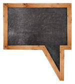 Blackboard speech bubble — Stock Photo