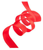 Red curled ribbon — Stock Photo